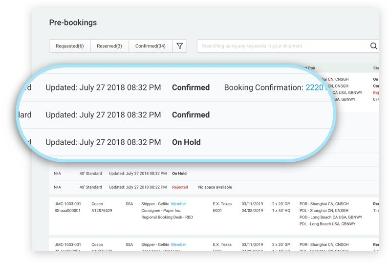 Confirmed bookings on BlueX